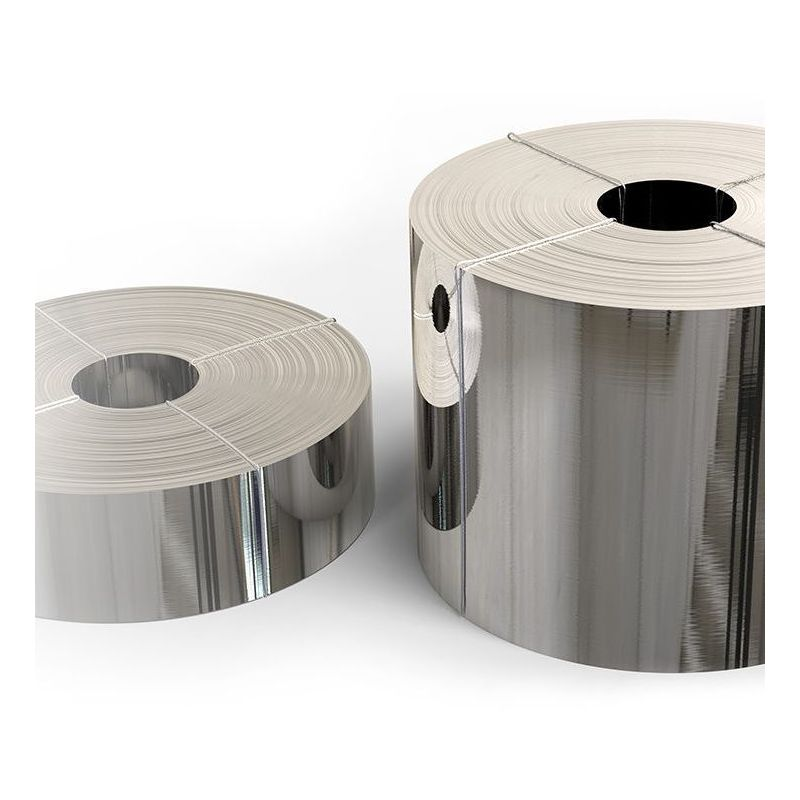 Stainless steel tape 1.4301 foil 0.05x20mm to 0.4x200mm V2A 304 sheet metal strip