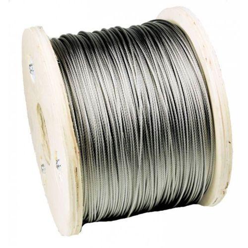 Vajer av rostfritt stål dia 1-8mm 1.4406 V4A 5-250 meter 7x7 och 7x19 stålrep