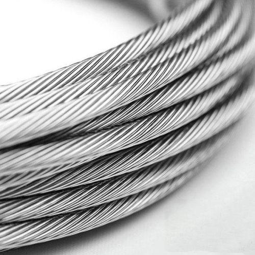 Vajer av rostfritt stål 1-8mm V4A 1.4401 316 7x7 och 7x19 stålrep 5-250 meter
