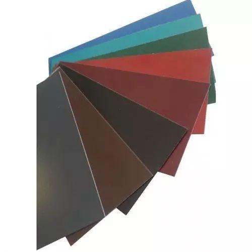 Platta stålstänger 0,5 mm färgremsor plåtskuren till storlek 0,5-1 meter